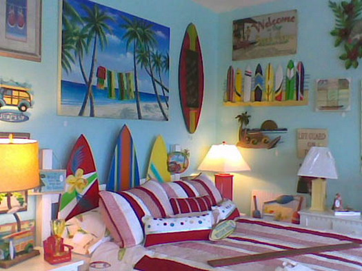 Beach House Bedroom Decorating Ideas: Modern Beach Theme Bedroom