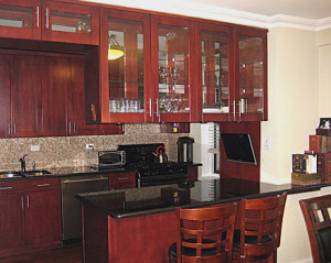 Cherywood cabinets glass doors