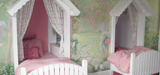 Pink Twin Girls Bedroom Decorations