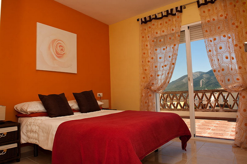 Orange Bedroom Design Interior Designing Ideas