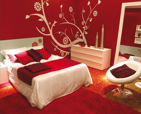 red and white bedroom interior designing ideas. beautiful ideas. Home Design Ideas