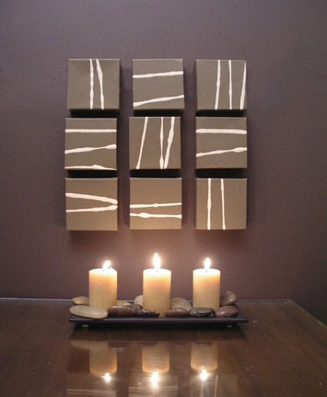 Candles for the home d cor interior designing ideas for Art wall decoration