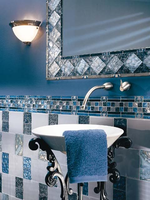 Blue Bathroom D Cor Interior Designing Ideas