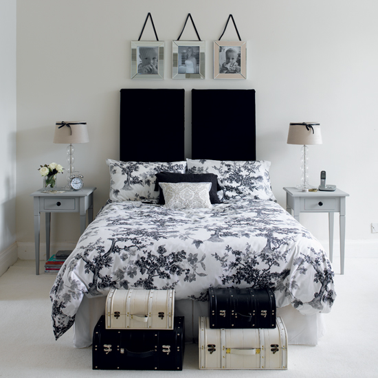 Black and white bedroom designs interior designing ideas Black and white bedroom decor