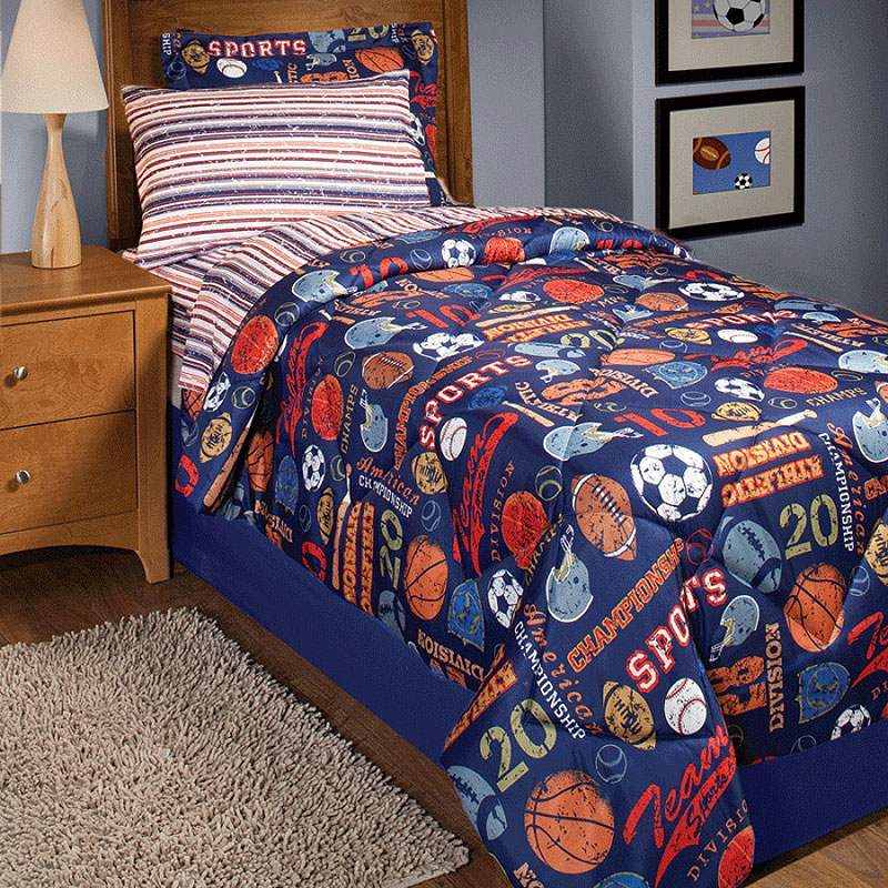 Softball Bedroom Theme Interior Designing Ideas