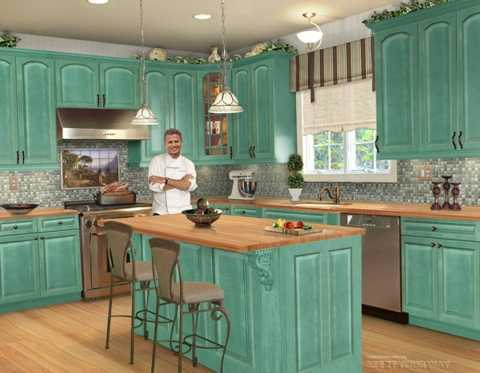 turquoise kitchen designing interior designing ideas