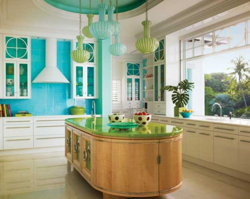 Turquoise Kitchen Design Ideas ~ Turquoise kitchen designing interior ideas