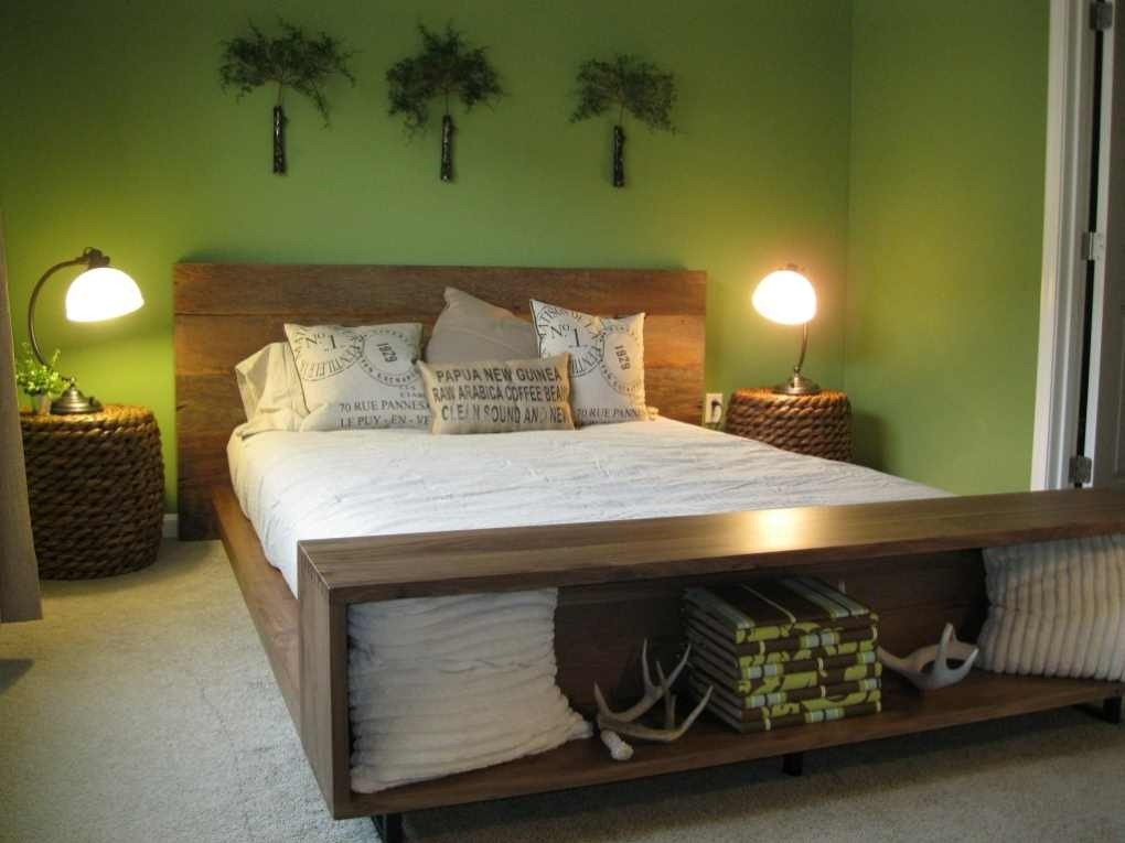 Master bedroom colors interior designing ideas Master bedroom with green walls