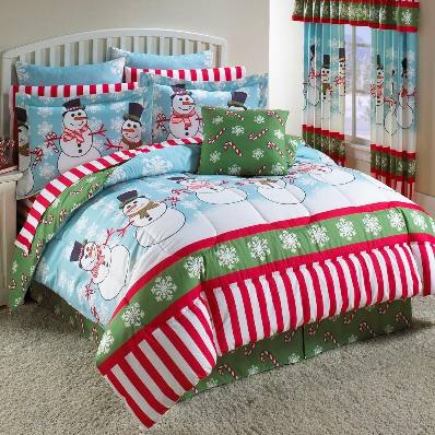 Christmas Holiday Bedding Interior Designing Ideas