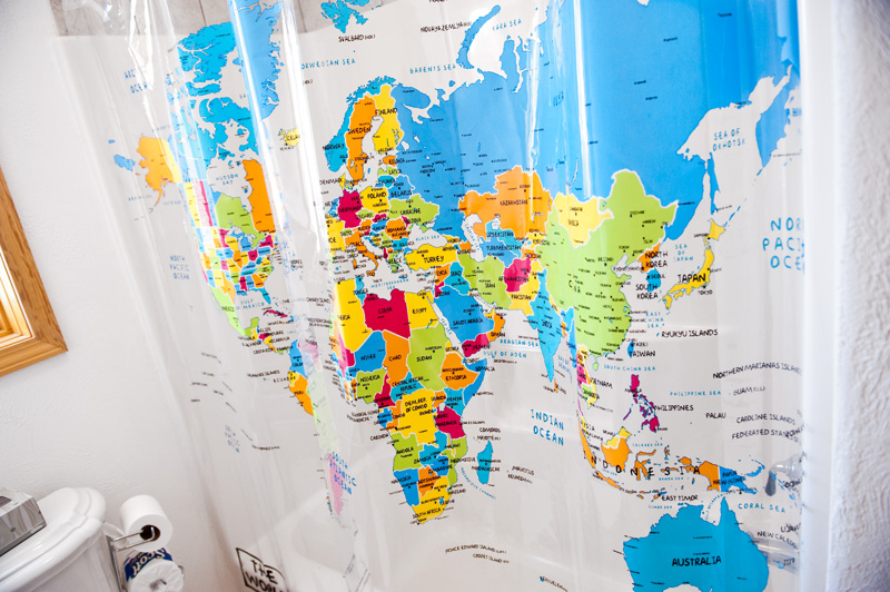 Shower curtain to suit your style interior designing ideas world map shower curtain 1003 map 007 gumiabroncs Gallery
