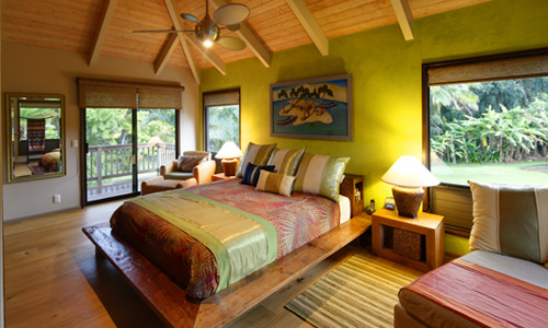 Hawaiian Themed Bedroom Interior Designing Ideas