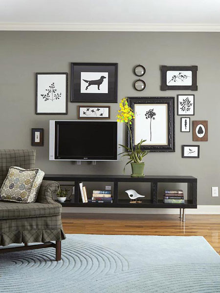 Wall Art Placement Ideas : Placement ideas for flat tvs interior designing