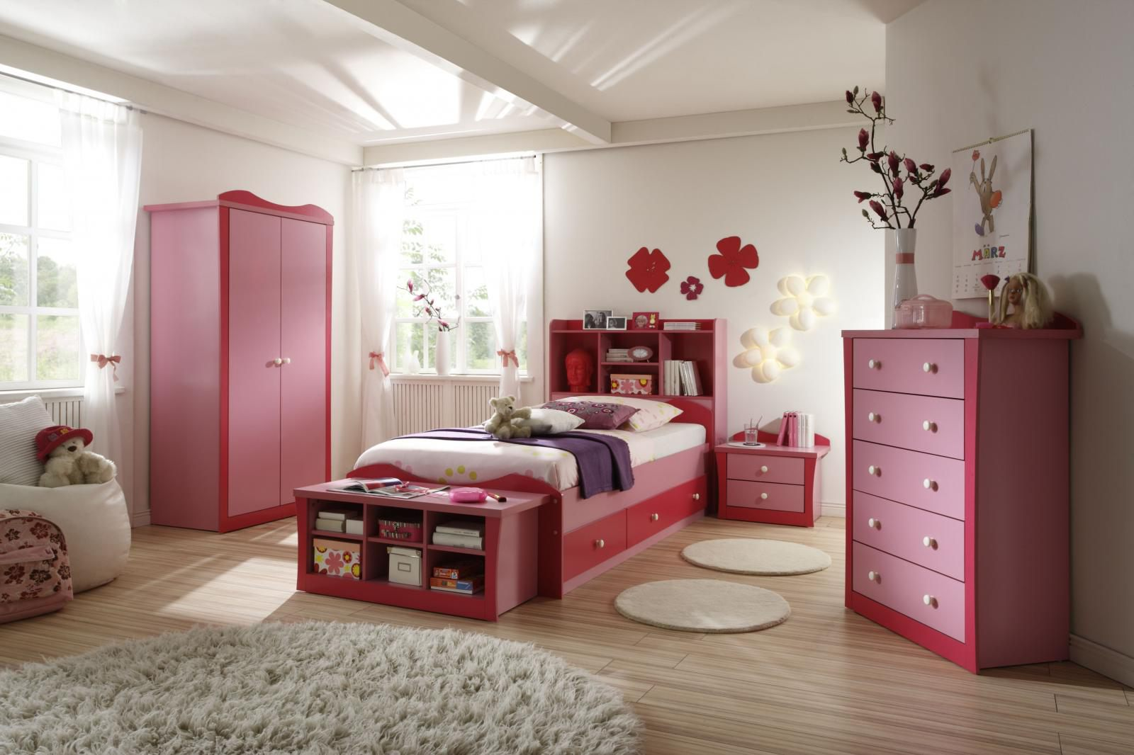 pink bed furniture