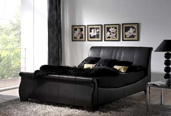 leather furniture in the bedroom interior designing ideas