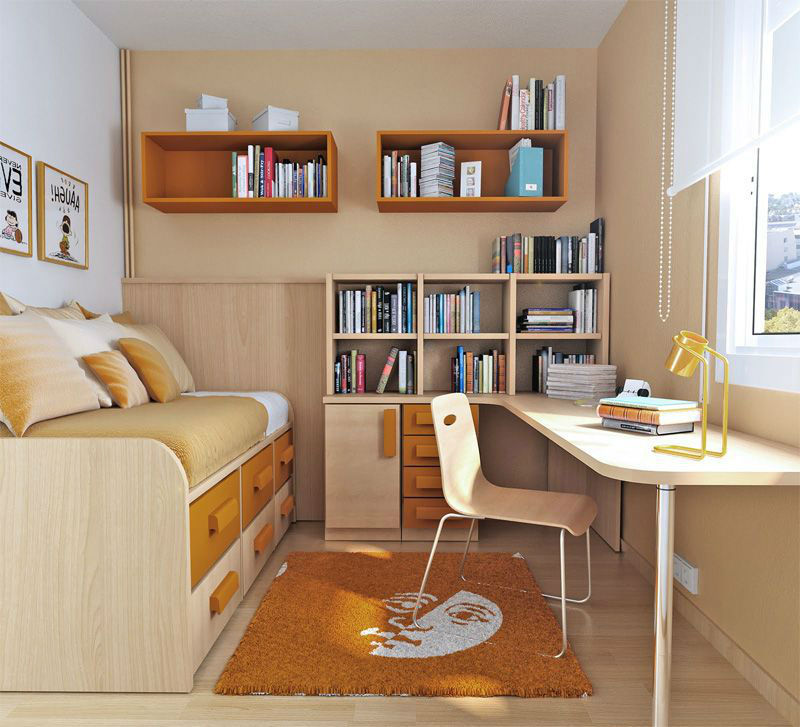 Utilizing small bedrooms for teenagers interior Teenage room ideas small space
