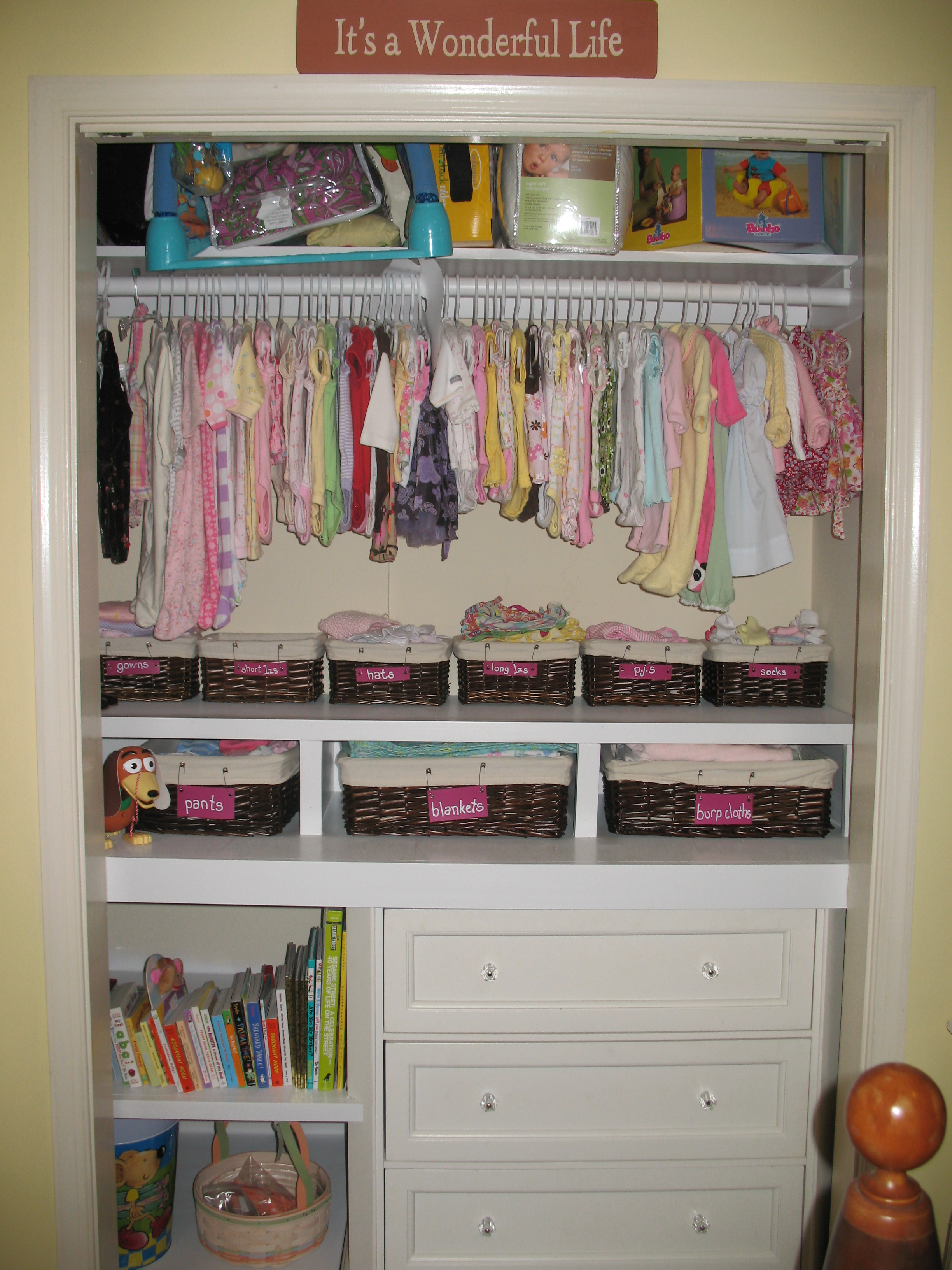 Baby Wardrobe Blue Closet Organizer For Boy