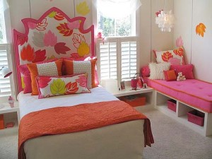 4-white-pink-orange-nature-leaves-theme-girls-room