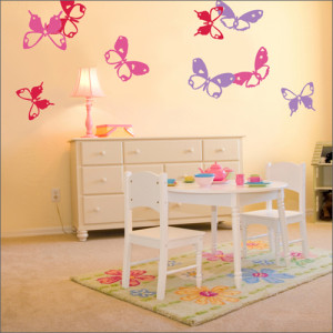 Beautiful-Butterfly-Theme-Girl-Bedroom-Design-3