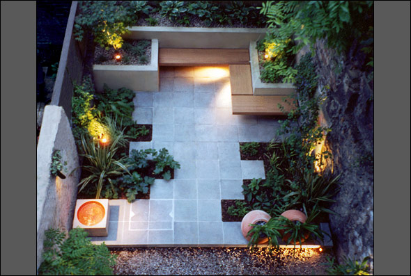 Adding style to your small garden space interior for Geometric garden designs