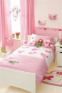 Pink-Girly-Butterfly-Themed-Bedroom-for-Girl