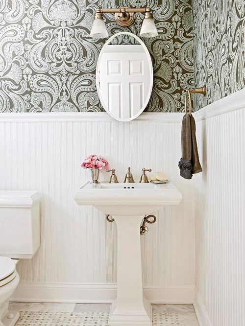 Wallpaper in bathroom 2017 grasscloth wallpaper for Bathroom wallpaper