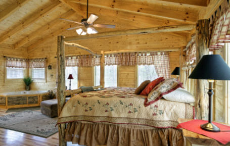 how to decorate a country themed bedroom interior