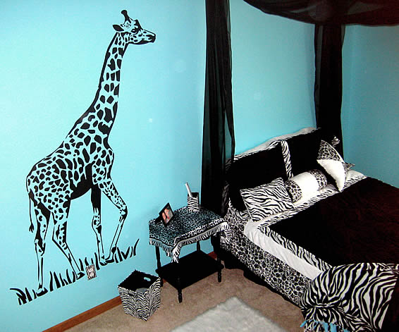 Zebra bedroom decoration ideas interior designing ideas for Zebra print bedroom ideas