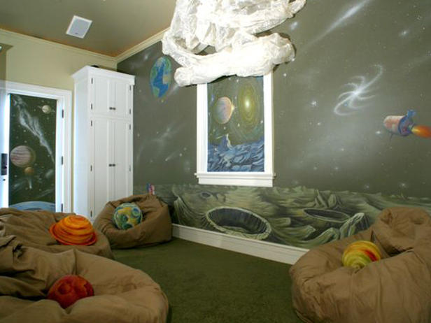 Outer Space Themed Bedroom The New Way Of Life Interior - Space kids room