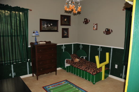 how to create football themed bedroom interior designing
