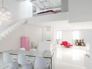 White-home-interior-color