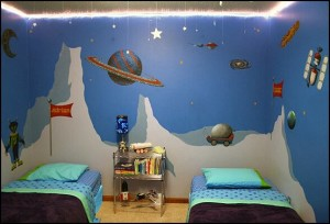 space theme bedroom ideas-space alien  theme bedroom ideas