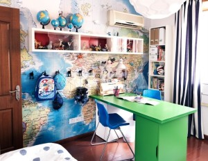 World-Travel-Themed-Workspace-with-Creative-Design