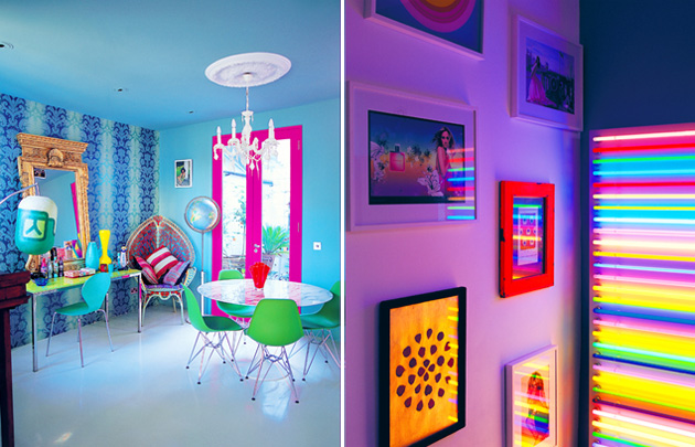 Neon Color Decor Room Bright Vivid 80s Ingrid