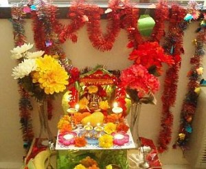 Decoration-for-Ganesh-Chaturthi-at-Home