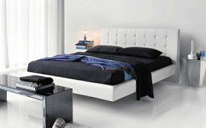 Zen-bedroom-idea-decor-masculine-black-white-inspiration-stylish-elegant-balance-blue-color