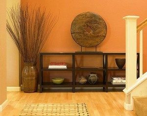 hallway-entry-way-living-room-inspiration-idea-zen-oriental-simple-orange-color-scheme-home-decorating