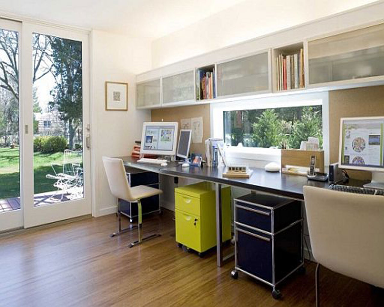 modern custom home office design with natural lighting - Designing Ideas