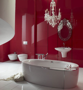 red-bathroom-design