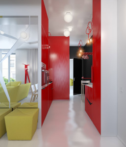 red-black-kitchen-white-yellow-lounge