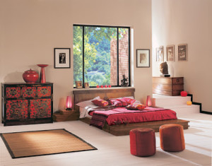 zen-bedroom-design-modern-idea-red-pink-platform-bed-oriental-minimal (1)