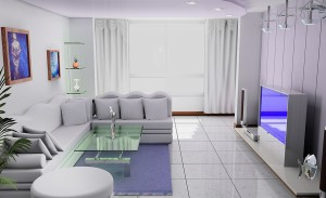 Living-room-lavender-ceiling-and-walls-rendering