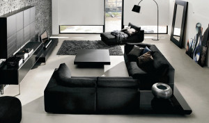 black-white-living-room