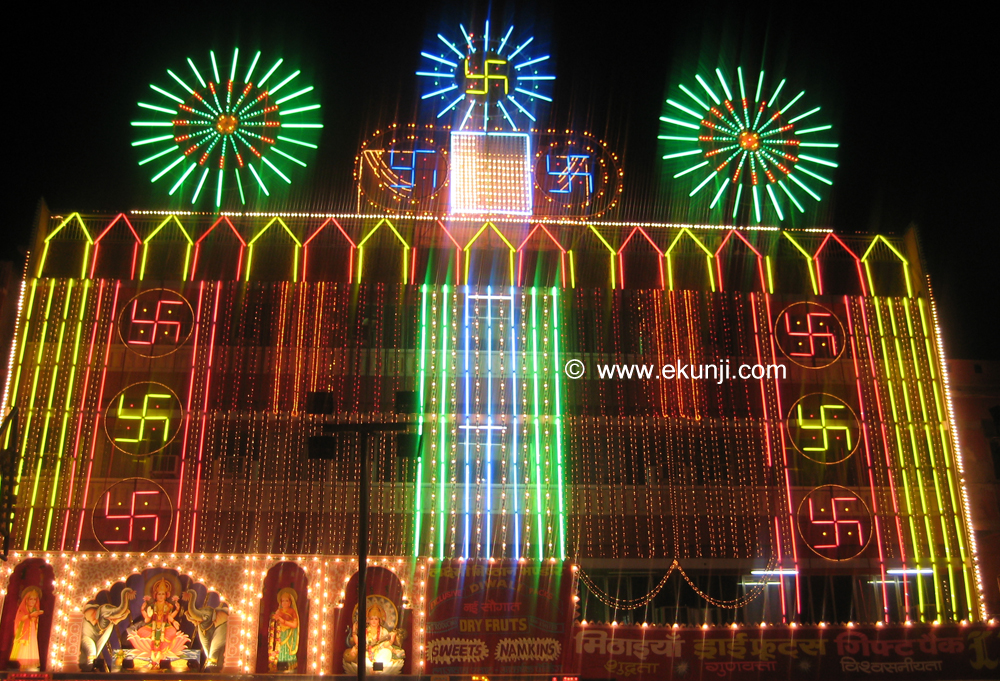 Diwali Festival Light Decoration Photo Big