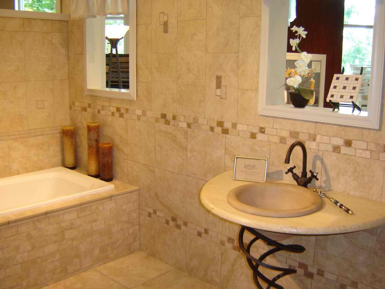 Tips on how to refinish bathroom tiles interior for Modern bathroom tile designs