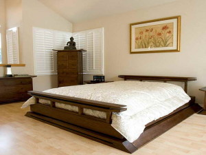 Japanese-Style-Bedroom-Furniture-with-budha-statue