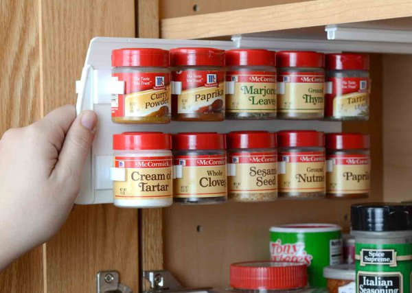 Kitchen cabinet carousel spice racks magic corner set for Carousel spice racks for kitchen cabinets