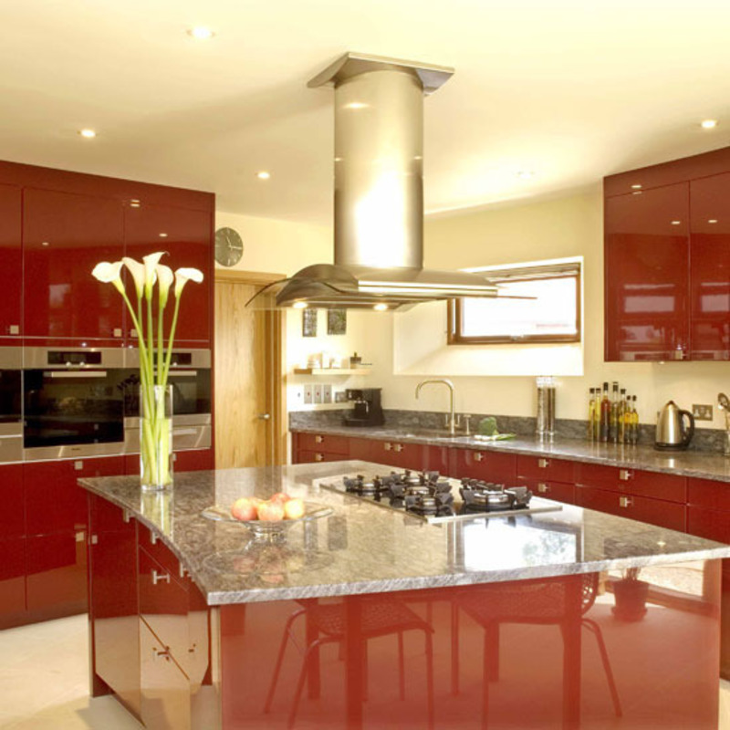 Red Kitchen Decor Ideas Part - 26: Red Kitchen Decorating Ideas, Kitchen, Colourful Design