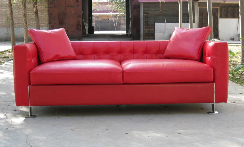 Semi Aniline Leather Sofa