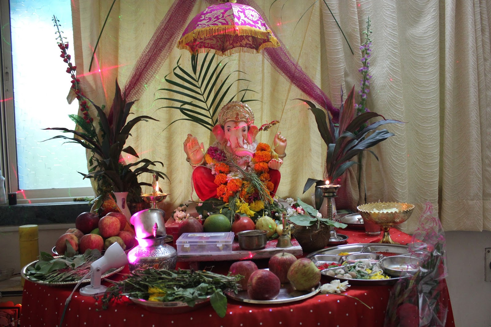 How to welcome ganpati once again interior designing for Decoration ganpati