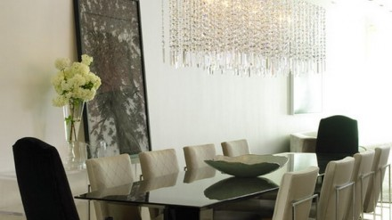 Modern Dining Room With Beautiful Crystal Chandeliers Decor  Part 86
